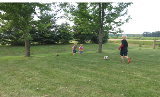 Mom's soccer on the farm little goalies