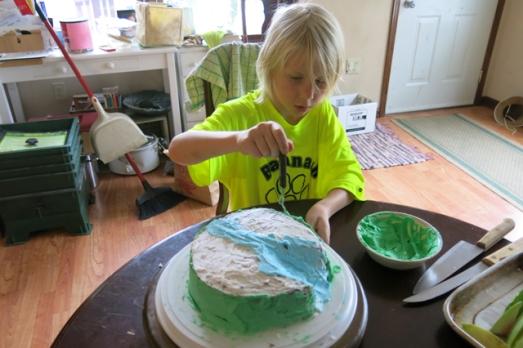 charlie bday cake