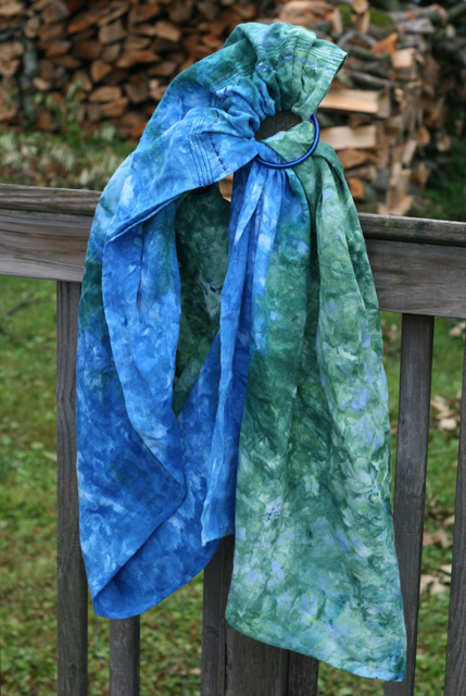 dye ice cerulean blue & better blue green 2nd time ring sling