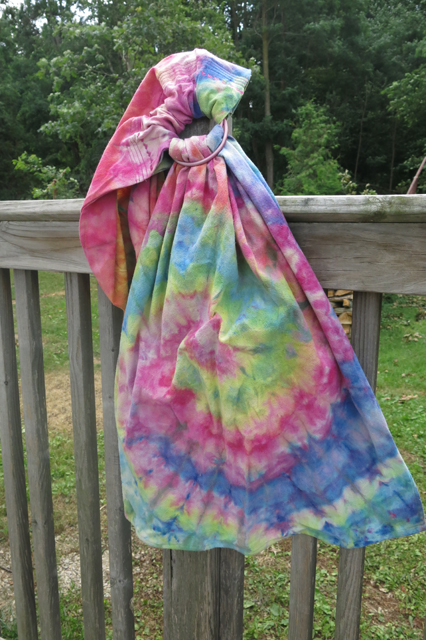 dye ice rainbow swirl ring sling 2