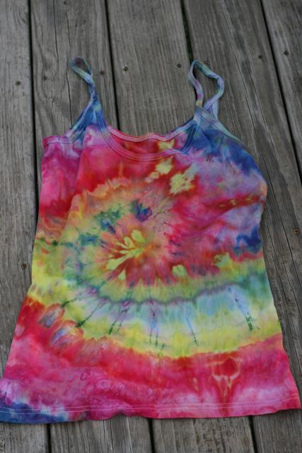 dye ice rainbow swirl Tank