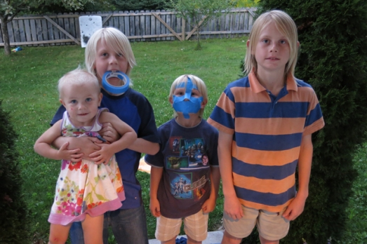 blue tape mask 4 kids