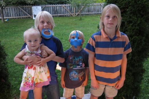 blue tape mask 4 kids