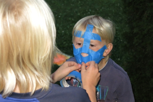 blue tape mask