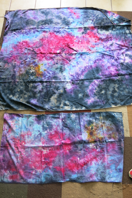 dye ice galaxy fabric