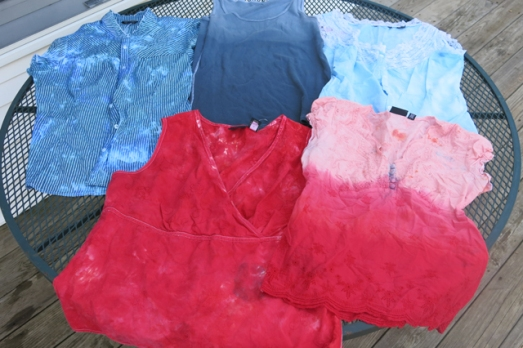 dye leftover dyes shirts