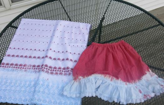 dye leftover skirts