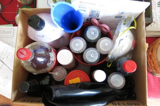 dye liquid leftovers