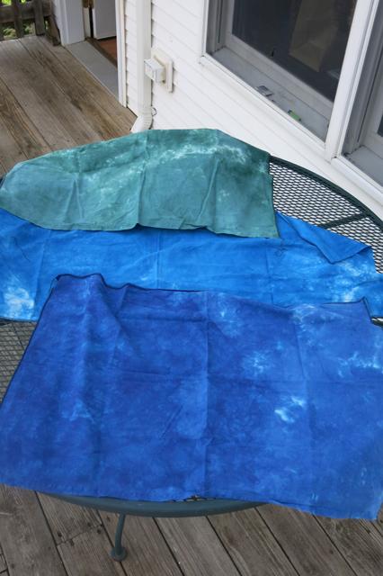dye LWI royal blue, cerulean blue & better blue green