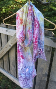 Dyed Scarf Rainbow colors