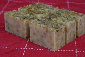 soap calendula flowers & lavender & tea tree