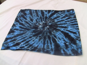dye bandana blue & black