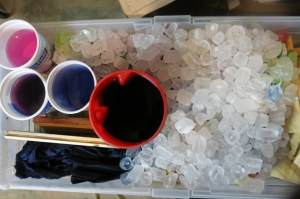 dye ice in progress