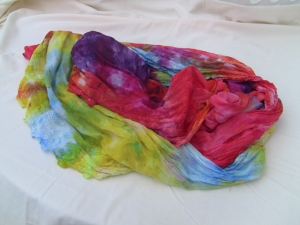 dye ice rainbow scarf lace 1
