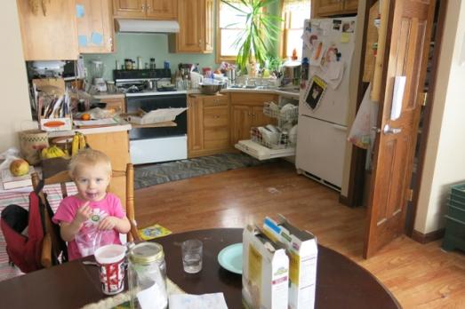 Normal kitchen scene