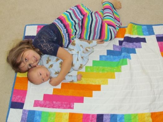 quilt rainbow baby