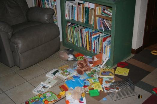 reading books spilled