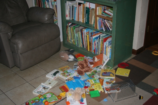 reading books spilled