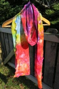 scarf vintage dyed rainbow 4