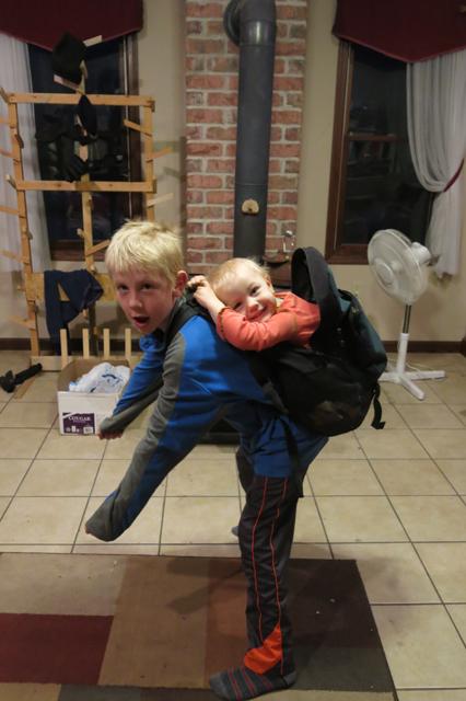 Charlie & Nola Mae babywearing