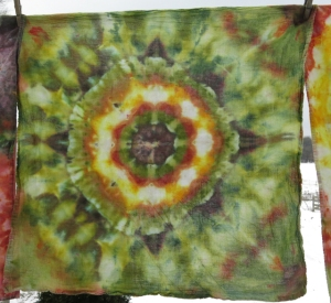 dye dish towel earth tone Ila mandala