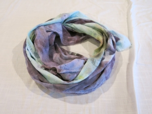 dye DNA scarf black & green 3
