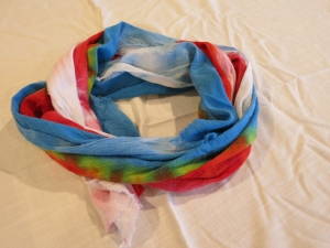 dye DNA scarf rainbow 2