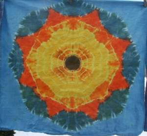 dye mandala towel sunflower
