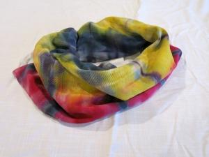 dye scarf upcylce rainbow 2