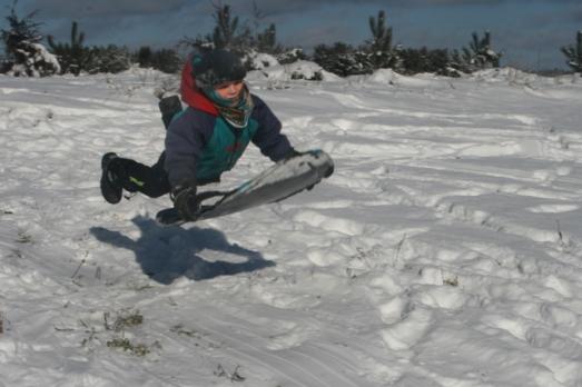 sledding Henry air