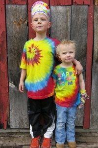 dyed birthday shirts