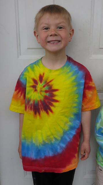 Henry's rainbow shirt