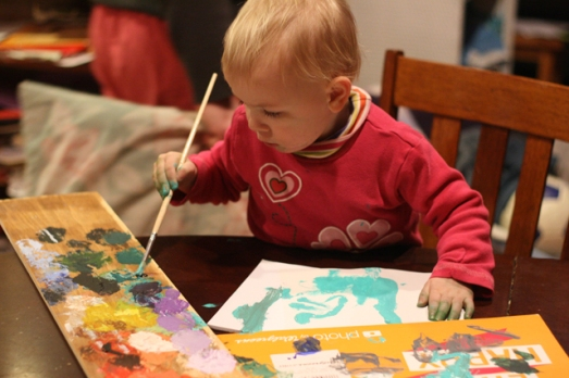 Nola  Mae Painting 2