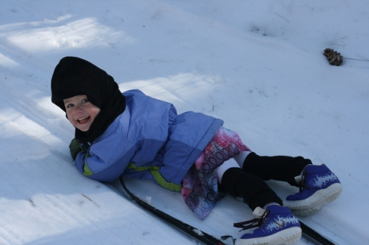 Nola Mae skiing 2