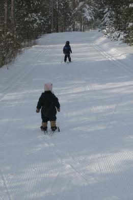 skiing Nola Mae & Henry 2014