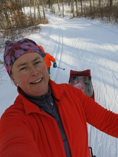 ski hill blue trail