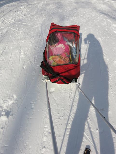 ski hill sled nap