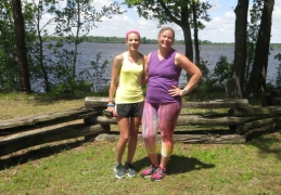 Frugal Sisters' Half Marathon 12 river
